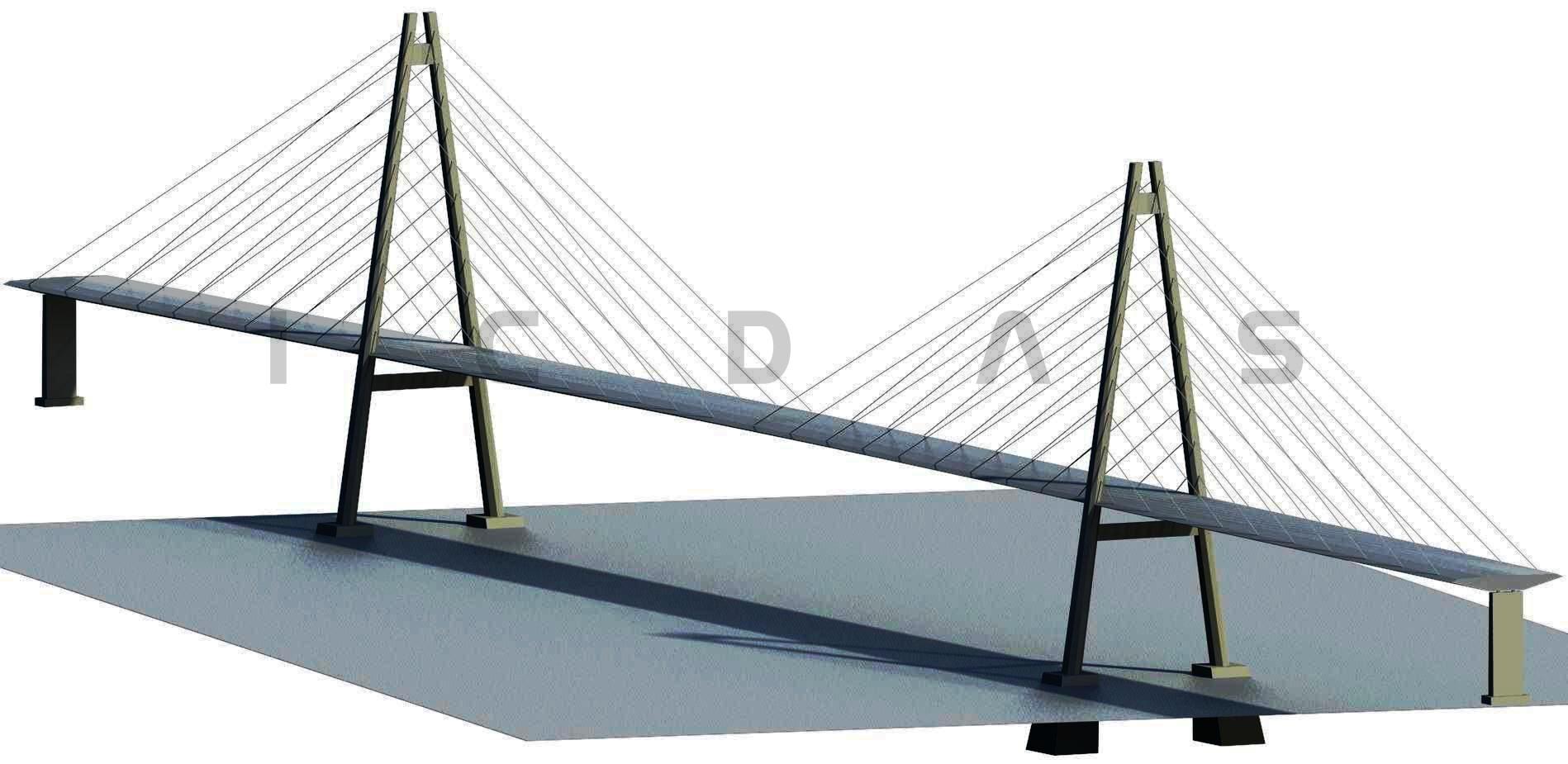 Figure : A-Pylon (EccTop, EccBot) =(4000, 16100). Harp cables system ...